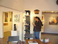 Visitor in Gallery