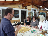 Fundraising fun at the Santa Cruz Mountains Art Center, Ben Lomond, California