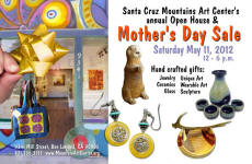 Open House & Mother's Day sale, May 11, at the Santa Cruz Mountains Art Center- Postcard front