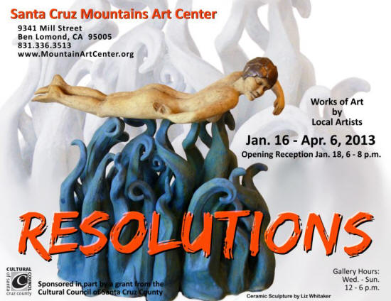 "Gallery Exhibition, ""Resolutions"" at the Santa Cruz Mountains Art Center, 2013"